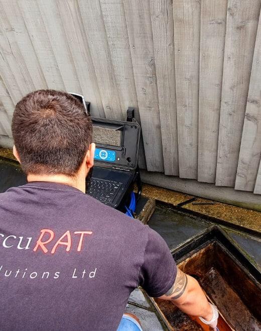 drain survey against rodents